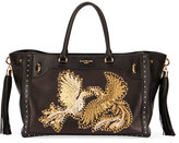 Balmain Renaissance Embroidered Leather Tote Bag