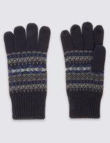 Marks And Spencer Fairisle Knitted Gloves