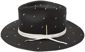 Nick Fouquet Rain Dog Speckled Straw Fedora Hat