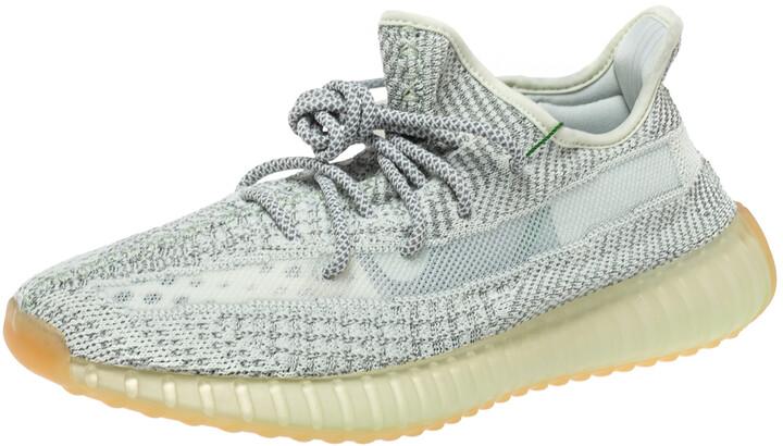 Yeezy x Adidas Grey Cotton Knit 350 V2 Yeshaya NR Sneakers Size 42.5