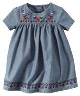 Carter's Embroidered Denim Dress