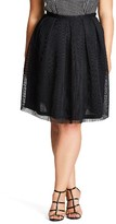 City Chic Plus Size Women's Love Me Pleat Mesh Skirt