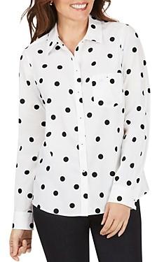 Foxcroft Hampton Non-Iron Polka Dot Shirt