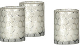 Jamie Young Set of 3 Glass Hurricanes - Clear