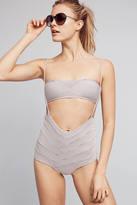 Made By Dawn Striped High-Waisted Swim Bikini Bikini Bottom