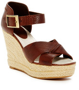Blackstone Crisscross Wedge Sandal