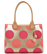 Kate Landry Cabana Dotted Metallic Tote
