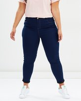 Evans Indigo Ultra Stretch Skinny Jeans