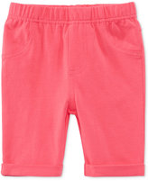 First Impressions Solid Bermuda Shorts, Baby Girls (0-24 months), Created for Macy's