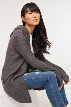 Ardene Knit Hooded Cardigan