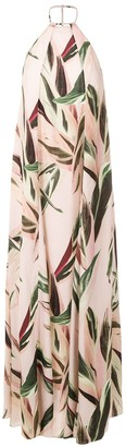 OSKLEN Printed Halterneck Dress