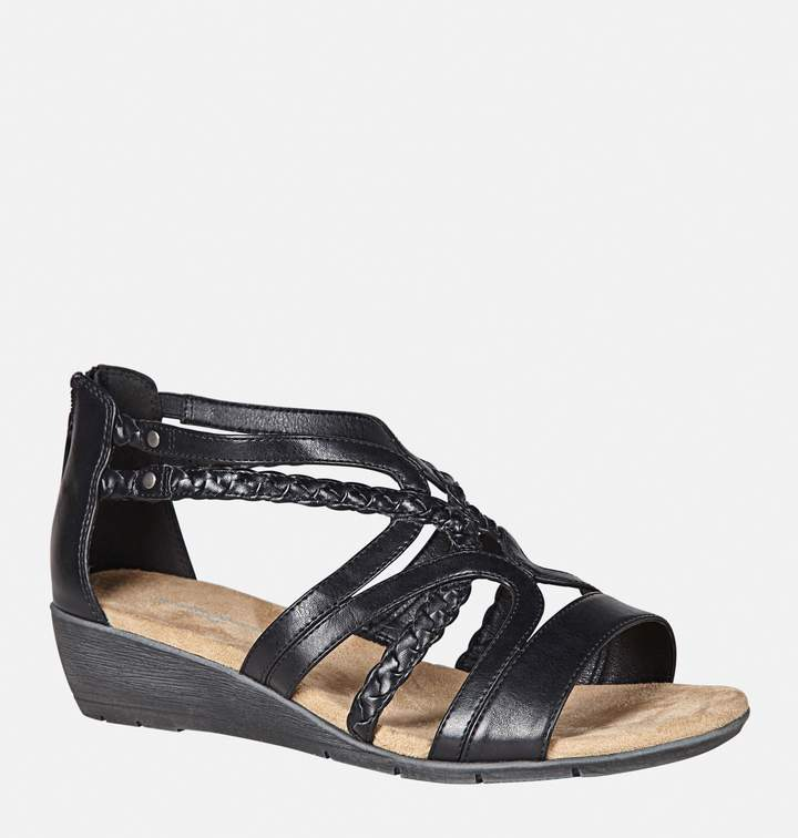 fe883a1cd Black Wedge Gladiator Sandals - ShopStyle