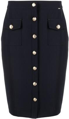 Liu Jo Button-Detail Pencil Skirt