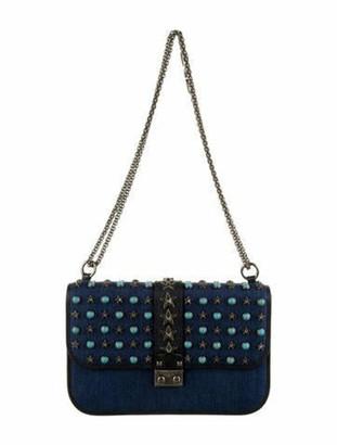 Valentino Star Stud Shoulder Bag Blue