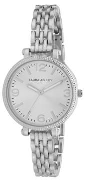 Laura Ashley Ladies' Silvertone Link Bracelet Watch
