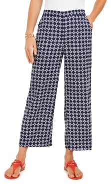 Charter Club Printed Cropped Wide-Leg Pants, Created for Macy's