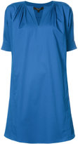 Derek Lam Short Sleeve Day Dress With Shoulder Pleats