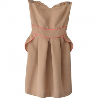 Sandro Beige Linen Dress for Women