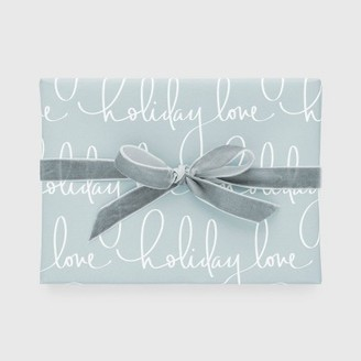 Blue Holiday Love Gift Wrap, Single Roll - Sugar PaperTM
