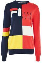 Fila Fine gauge colour block knitted jumper