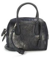 MCM Leather & Calf Hair Crossbody Bag