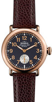 Shinola The Runwell Rose Golden Watch with Oxblood Leather Strap, 36mm