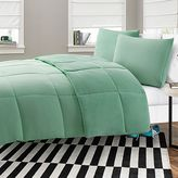 Bed Bath & Beyond Microfiber-to-Plush Reversible 2-Piece Twin XL Comforter Set in Aqua