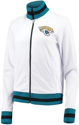 G Iii Women's G-III 4Her by Carl Banks White Jacksonville Jaguars Field Goal Track Jacket