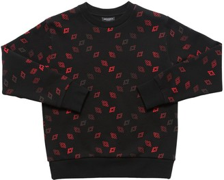 Marcelo Burlon County of Milan All Over Logo Print Cotton Sweatshirt