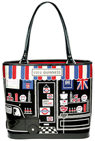 Lulu Guiness London Souvenir Shop Medium Tote Handbag, Black