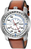 Diesel Men's 'Rig' Quartz Stainless Steel and Leather Automatic Watch, Color:Brown (Model: DZ1749)