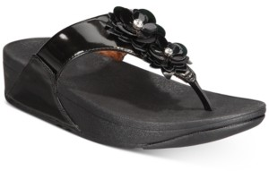 FitFlop Lulu Flower Toe-Thong Sandals Women's Shoes