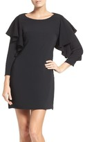 Laundry by Shelli Segal Women's Ruffle Sleeve Shift Dress
