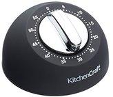 Kitchen Craft Soft-Touch Mechanical 1-Hour Kitchen Timer – Black