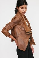 Silence & Noise Silence + Noise Riley Drapey Vegan Suede Jacket