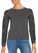 CeCe Long Sleeve Crewneck Sweater