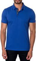 Jared Lang Short-Sleeve Cotton-Blend Polo Shirt, Royal
