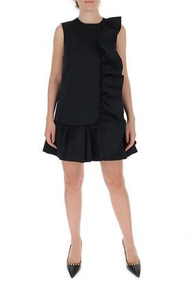 RED Valentino Ruffle Trim Mini Dress