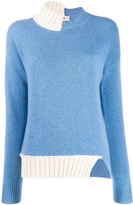 Marni Knitted Two-Tone Jumper