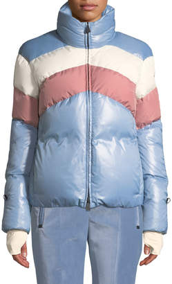 Moncler Lamar Colorblock Ski Coat
