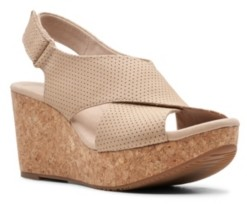 Clarks Collection Women's Annadel Parker Wedge Sandals Women's Shoes