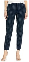 Lauren Ralph Lauren Petite Polka Dot Stretch Twill Pants (Lauren Navy/Silk White) Women's Casual Pants