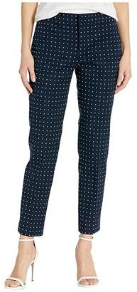 Lauren Ralph Lauren Petite Polka Dot Stretch Twill Pants (Lauren Navy/Silk White) Women's Casual Pants