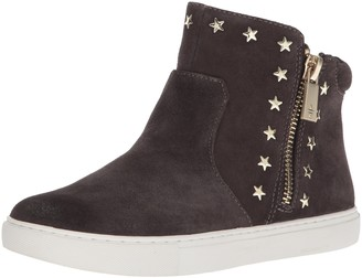 Kenneth Cole New York Women's Kiera Star Mid-Height Sneaker Zippers on Sides and Stud Embellishment