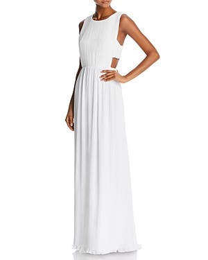 BCBGMAXAZRIA Pleated Column Gown - 100% Exclusive