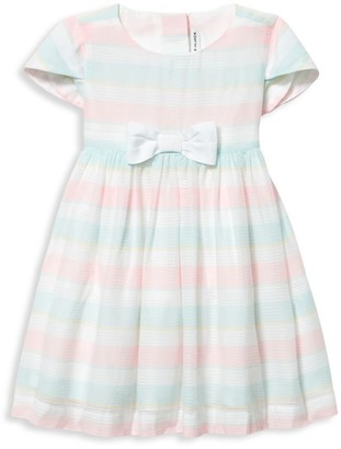 Janie and Jack Baby Girl's Multicolor Dobby Striped Dress