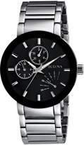 Bulova Men's 96C105 Black Dial Bracelet Watch