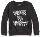 Eleven Paris Boy's Little Elevenparis Trick Or Treat Sweatshirt