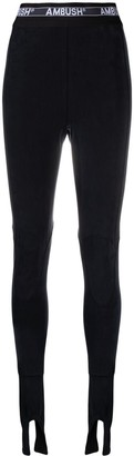 Ambush Elastic Band Cupro Legging Black No Colo