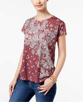 Style&Co. Style & Co Petite Dolman-Sleeve Printed T-Shirt, Created for Macy's